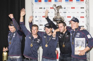 Ben Ainsley and team over joyed with the Success at Americas cup