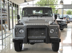 One of the last remaining Defenders at Grange Land Rover Swindon