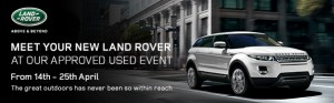 Approved used event Land Rover