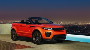 range rover evoque convertible pool side