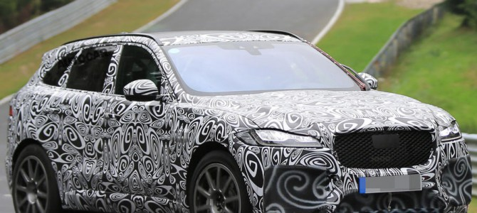 First Spy Shots of the Jaguar F-Pace SVR