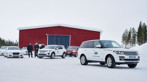 Jaguar Land Rover open Up Ice Driving Academy