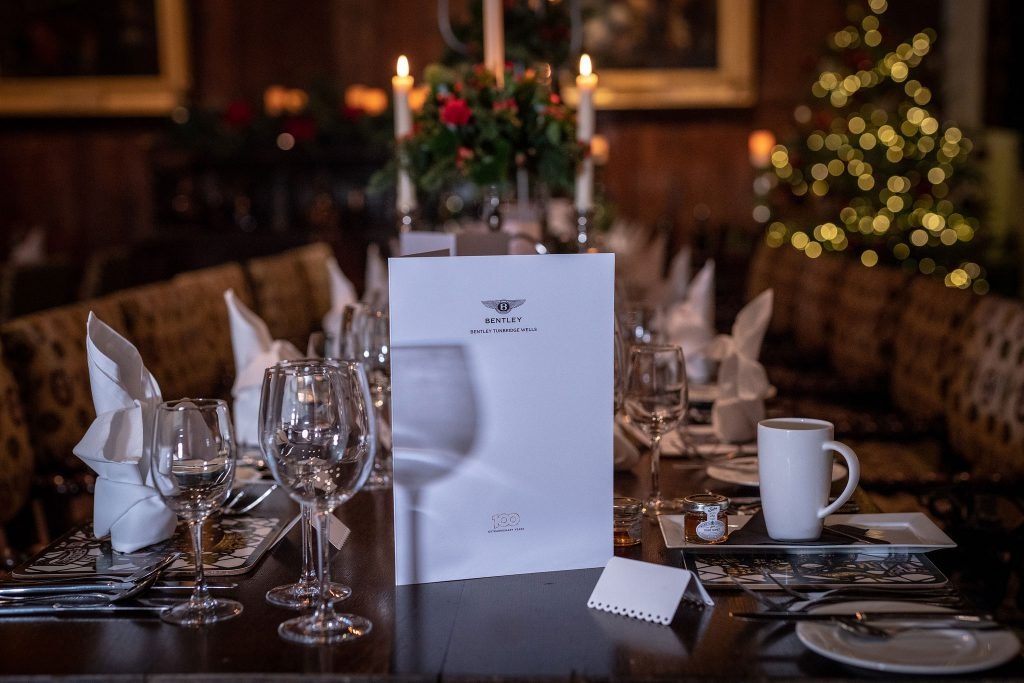 An Extraordinary Dinner with Bentley and Grange Tunbridge Wells